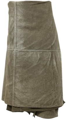 Comme des Garcons Green Denim - Jeans Skirt for Women