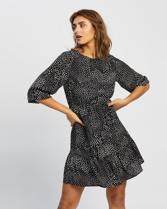 Atmos & Here Atmos&Here - Women's Black Mini Dresses - Anastasia Mini Dress - Size 6 at The Iconic