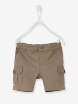 Baby Boys Combat-Style Bermuda Shorts - light taupe, Baby | Vertbaudet
