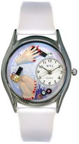 Whimsical Watches Women's S0630003 Nail Tech Red Leather Watch