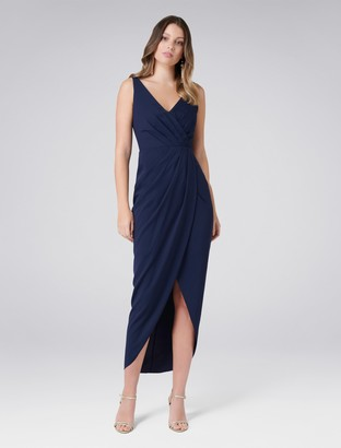 Forever New Victoria Wrap Dress - Maritime Blue - 4