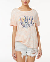 GUESS Tie-Dyed Cactus Graphic T-Shirt
