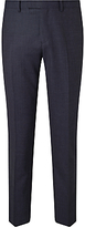 John Lewis Textured Super 100s Wool Tailored Suit Trousers, Ink Blue