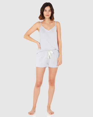 Boody Organic Bamboo Eco Wear - Women's Blue Two-piece sets - Goodnight Sleep Set - Cami and Shorts - Dove - Size One Size, XL at The Iconic