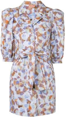 Lhd Casita puff-sleeve dress