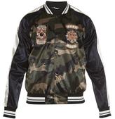 Valentino Camouflage-print satin bomber jacket