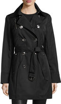 MICHAEL Michael Kors Double-Breasted Trench Coat, Black