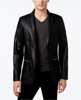 Calvin Klein Men's Classic-Fit Faux-Leather Blazer