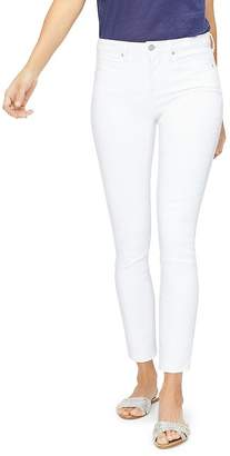 NYDJ Ami Embroidered Skinny Jeans in Optic White