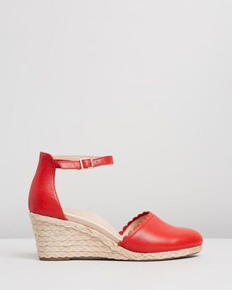 Vionic Women's Red Heels - Anna Wedges - Size One Size, 11 at The Iconic