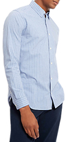 Jaeger Xhatch Striped Shirt, Sky Blue