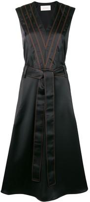 Cédric Charlier Striped Midi Dress