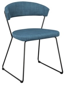 Moe's Home Collection Adria Dining Chair Blue-Set Of Two