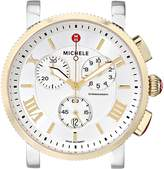 Michele Women's MW01K00C9018 Sport Sail Large Analog Display Swiss Quartz Two Tone Watch Head