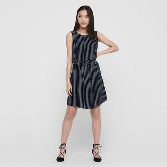 Jacqueline De Yong Printed Sleeveless Short Dress