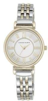 Anne Klein Mixed-Metal Chain-Link Watch