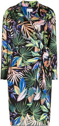 Milly Botanical-Print Wrap Dress