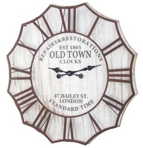 Crystal Art Gallery American Art Decor Old Town Clocks Oversized Vintage-like Wall Clock