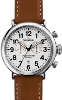 Shinola 41mm Runwell Chrono Watch, Brown/White