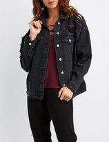 Charlotte Russe Destroyed Denim Boyfriend Jacket