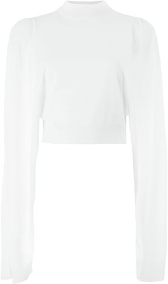 Vera Wang Cropped Knit Jumper