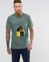 The North Face T-Shirt With Denali Mountain Print In Green
