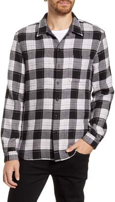 John Varvatos Neil Reversible Flannel Button-Up Shirt