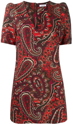 P.A.R.O.S.H. Paisley-Print Mini Dress