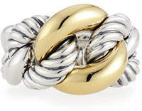 David Yurman Belmont Curb Link Ring with 18k Gold