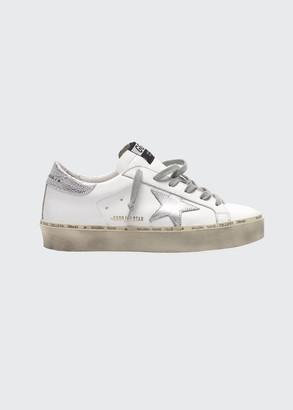Golden Goose Hi Star Metallic Leather Low-Top Sneakers