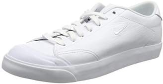 Nike Men's All All Court 2 Low Leather Trainers, White Black, 43 EU