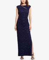 Lauren Ralph Lauren Sequined-Lace Cutout Gown