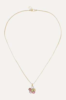 Pippa Small 18-karat Gold, Cord And Spinel Necklace - one size