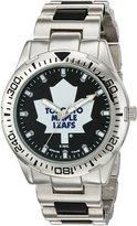 Game Time Men's NHL-HH-TOR Heavy Hitter Analog Display Japanese Quartz Silver Watch