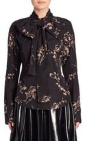 Marc Jacobs Printed Tie-Neck Blouse