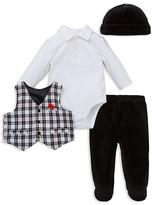 Little Me Boys' 4 Piece Plaid Vest Set - Baby