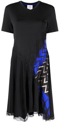 Emilio Pucci x Koche chevron-print panelled T-shirt dress