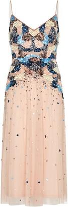 Aidan Mattox Beaded Tea Length Dress