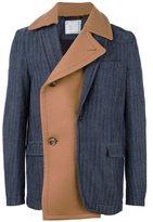 Sacai mixed fabric jacket