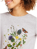Oasis Botanical Print T-Shirt, Mid Grey