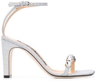 Sergio Rossi Crystal Strap Sandals