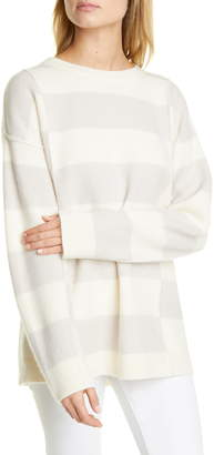 Club Monaco Stripe Oversize Boiled Cashmere Sweater