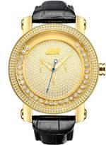 "JBW Men's JB-6211L-A ""Hendrix"" -Tone Multi-Function Leather Diamond Watch"