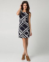 Le Château Geo Print Stretch Twill Belted Mini Dress