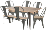 Lumisource Oregon Industrial Farmhouse Dining Set (6 PC)