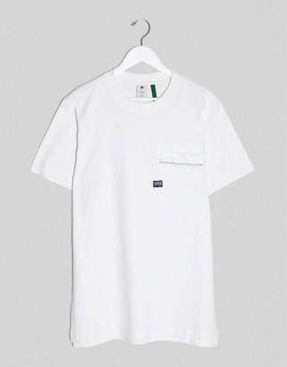 G Star G-Star pocket detail t-shirt in white