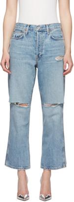 RE/DONE Blue Originals Low Slung Crop Jeans