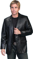 Scully Men's Lambskin Blazer w/ Ostrich Trim 650