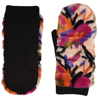 UGG All Over Faux Fur Mitten with Sherpa Lining (Motlee) Extreme Cold Weather Gloves