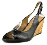 Gerry Weber Adelina 05 Women Open Toe Leather Black Wedge Heel.